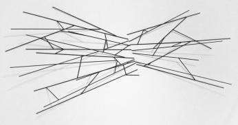 Sem título - Barras de aço sobre parede - 280x160x60 cm - 2013