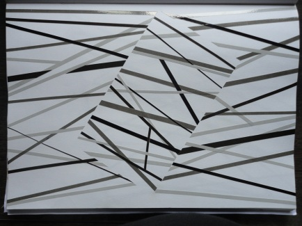 Estudo - vinil adesivo sobre papel - 30x20cm - 2010