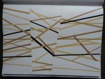 Estudo - Fitas sobrepostas sobre papel - 30x20cm - 2010