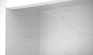 Ruptura - Instalação - linhas pintadas sobre parede - 200x250x180cm - 2017
