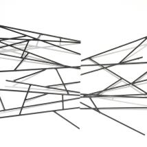 Barras de Ferro sobre parede - 240 x 110 x 60 cm - 2018