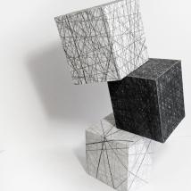 Lápis sobre papel dobrado - 80 x 40 x 30cm - 2018