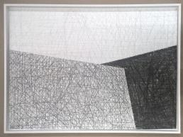 lápis sobre papel algodão 300g - 100 x 70 cm