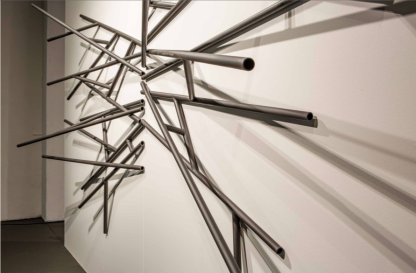 Untitled - Steel on wall - 430 x 300 cm - 2019